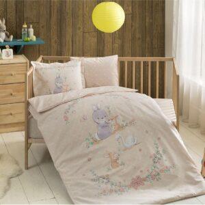 Постельное белье TAC BEBEK ORGANIK HAPPY BUNNY SOMON для новорожденных